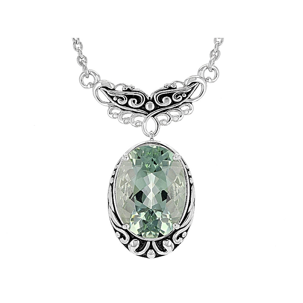Sterling Silver Prasiolite Necklace