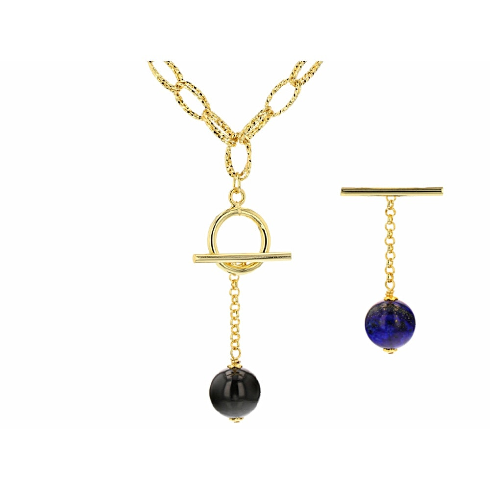 Costume Lapis Lazuli and Agate Necklace