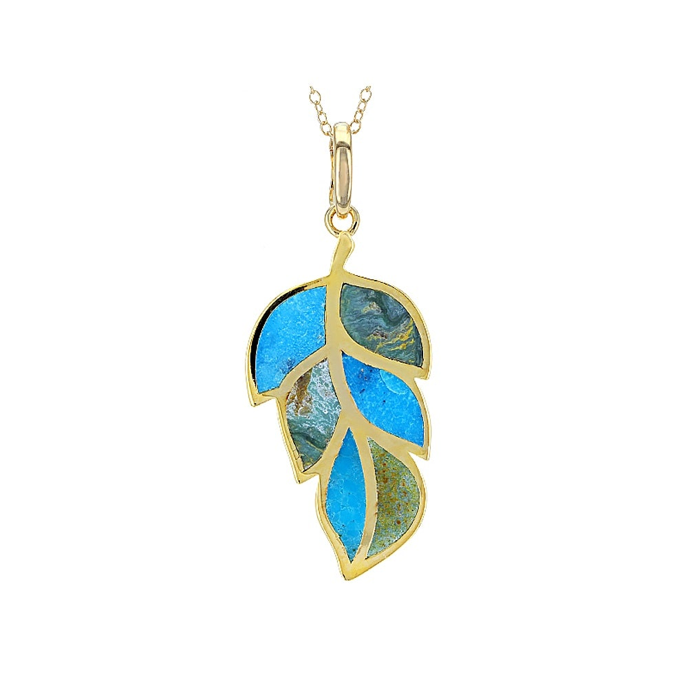 Sterling Silver Turquoise Enhancer with Chain