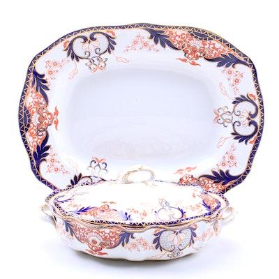 Royal Crown Derby Bone China Platter and Serving Dish