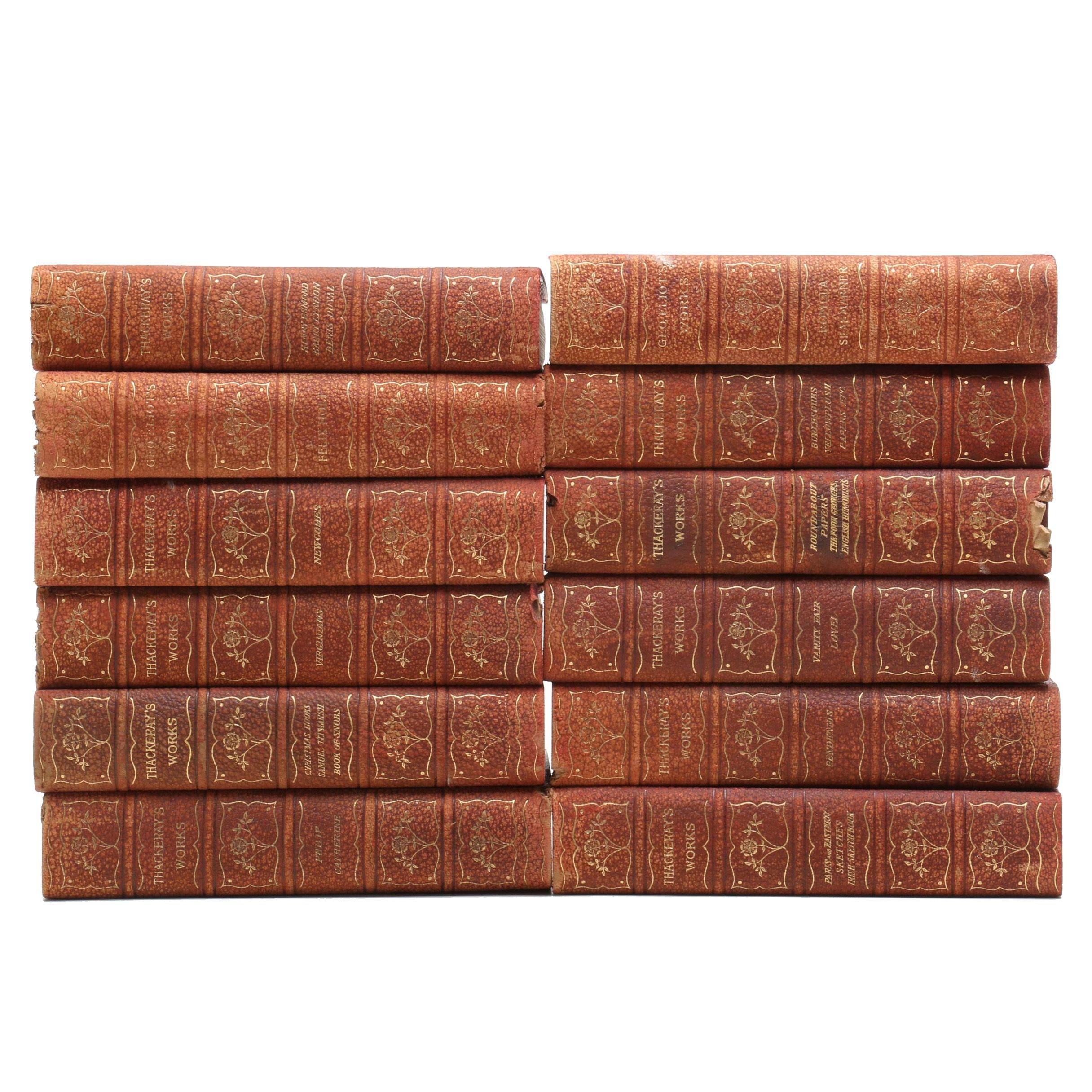 """""""Thackeray's Works"""" Twelve Volume Set"""