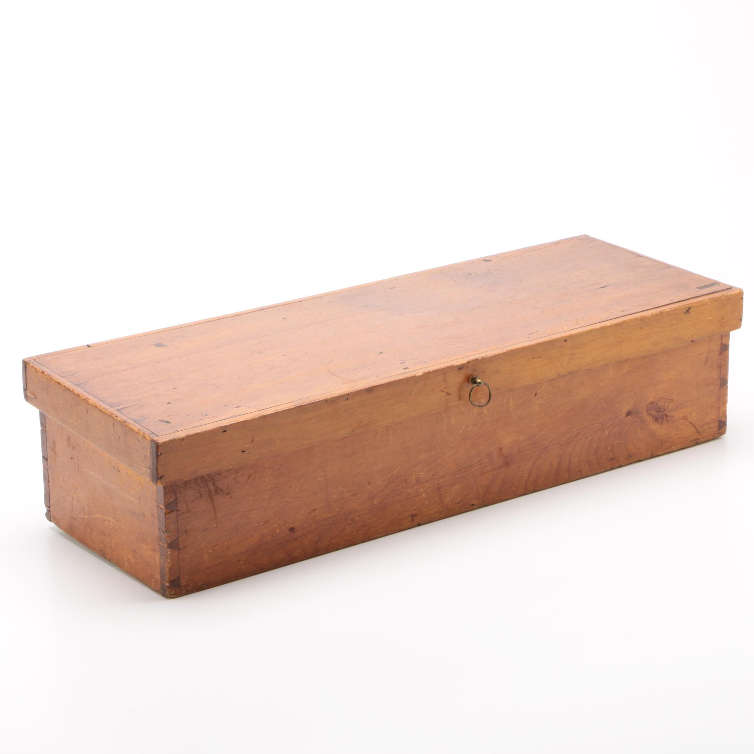 Dovetailed Wood Storage Box