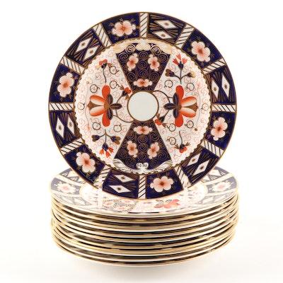 "Royal Crown Derby ""Traditional Imari"" Bone China Salad Plates"