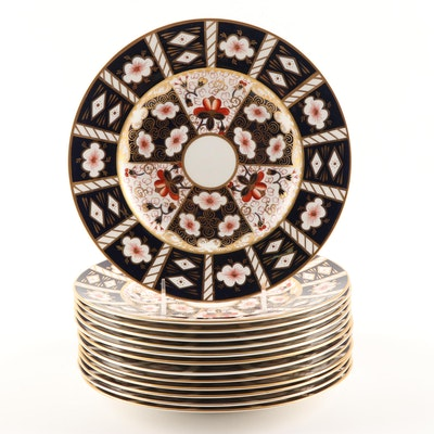 "Royal Crown Derby ""Traditional Imari"" Bone China Dinner Plates"