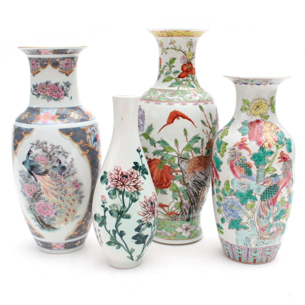 East Asian Porcelain Vases