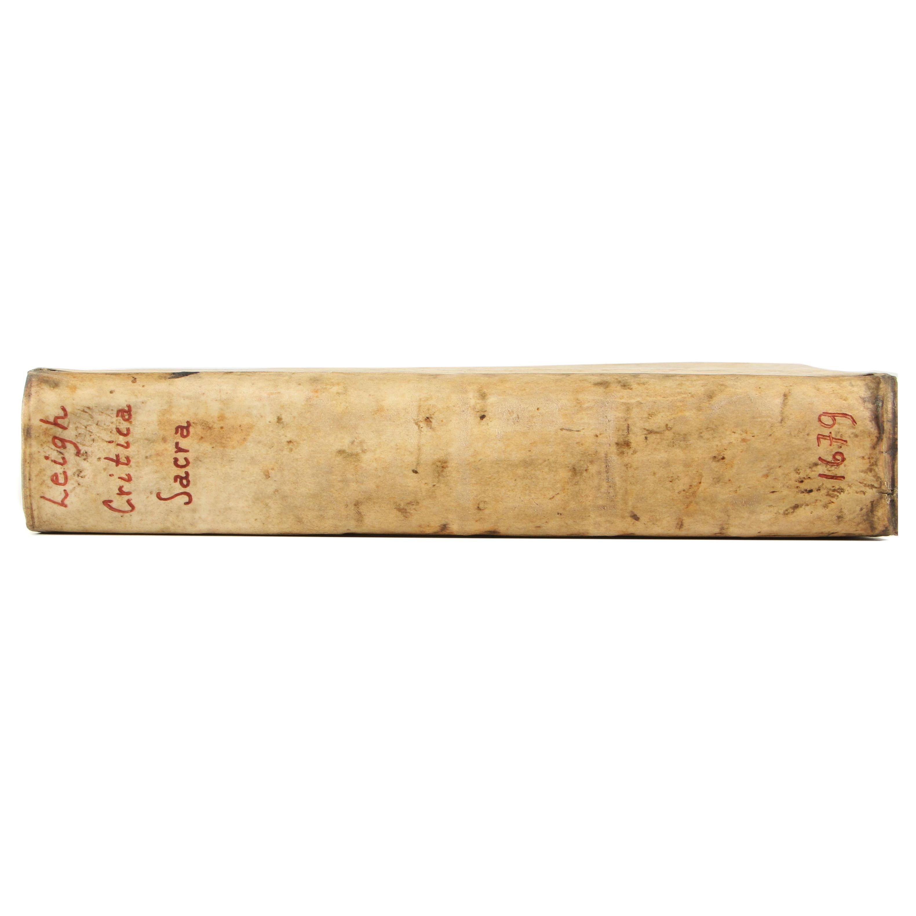 "Latin-Translated ""Critica Sacra"" by Edward Leigh, 1679"