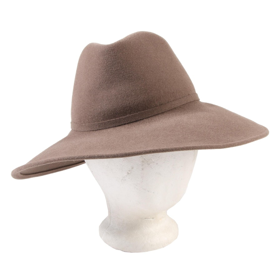 a4643a0f0 Frank Olive for Saks Fifth Avenue Fur Felt Safari Style Hat with Hat Pin ...