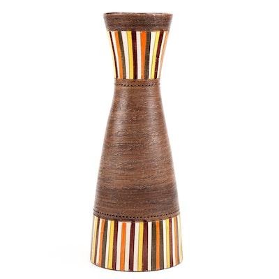 Mid Century Modern Bitossi Rosenthal Netter Style Striped Vase