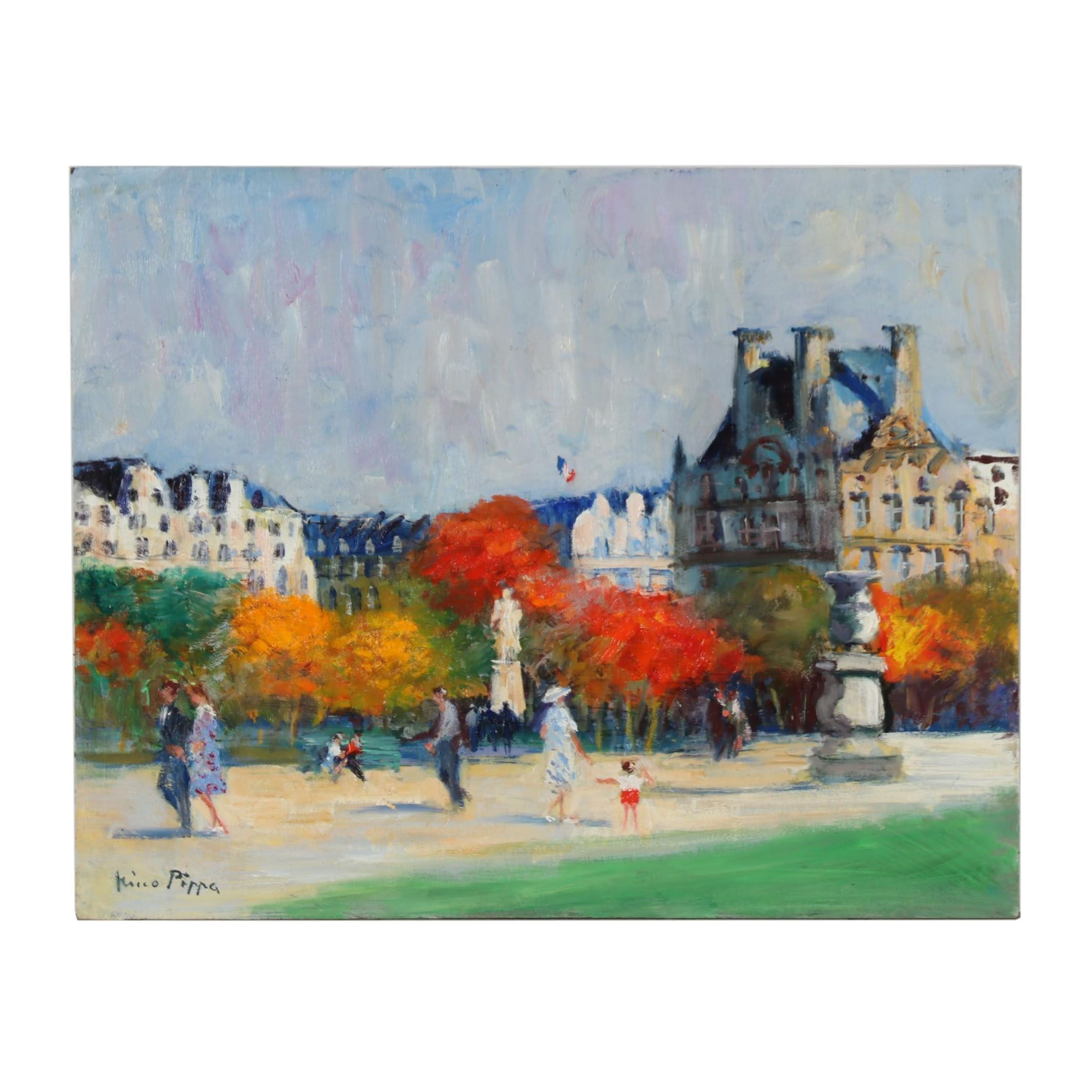 "Nino Pippa Oil Painting ""Paris - Tuileries Gardens"""