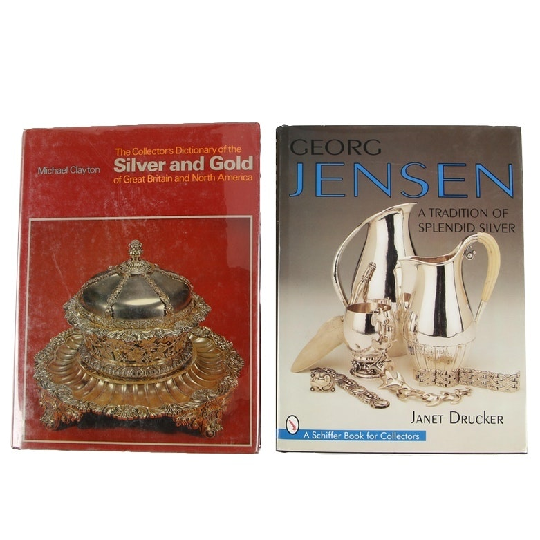 """Silver Reference Books including """"Georg Jensen: A Tradition of Splendid Silver"""""""
