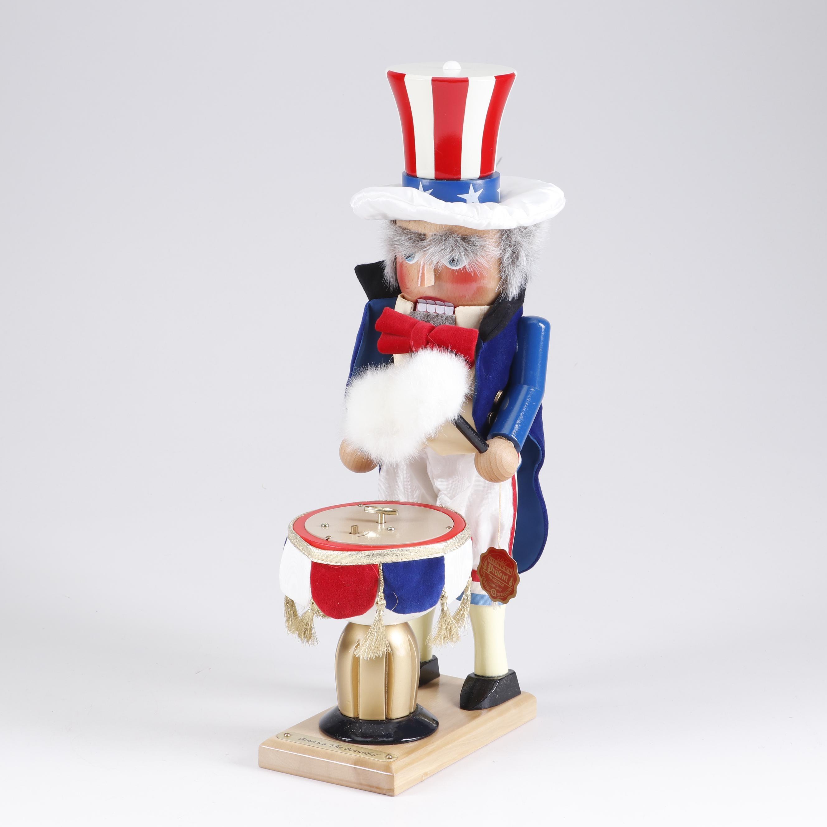 "Steinbach ""America the Beautiful"" Wooden Nutcracker Music Box"