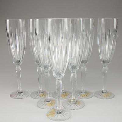 "Cristal d'Arques ""Classic"" Crystal Champagne Flutes"