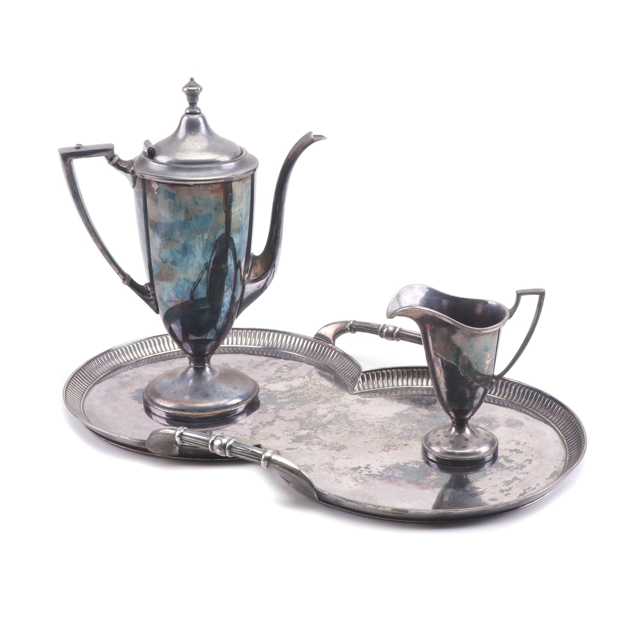 Forbes Silver Plate Tea Set and Tray