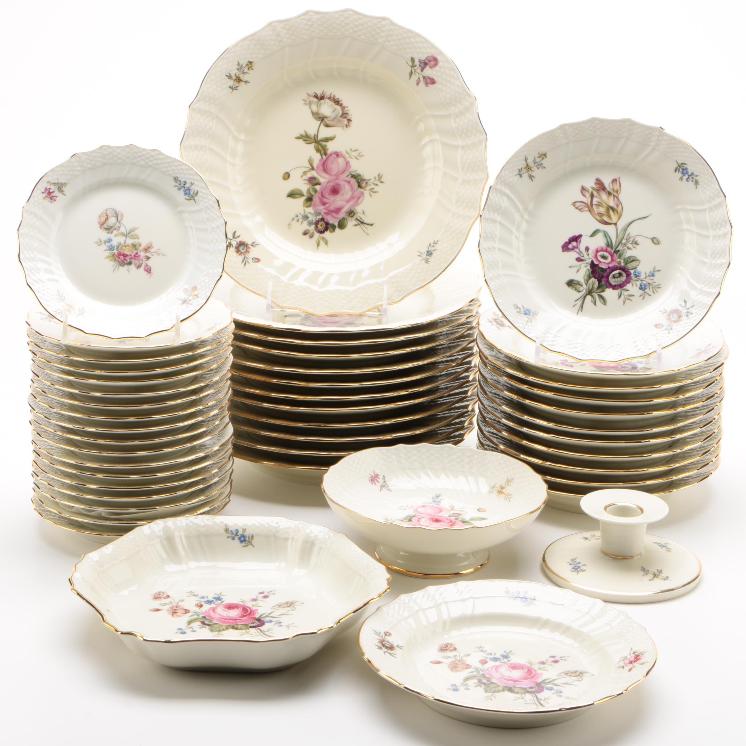 """Royal Copenhagen """"Frijsenborg"""" Porcelain Dinnerware"""