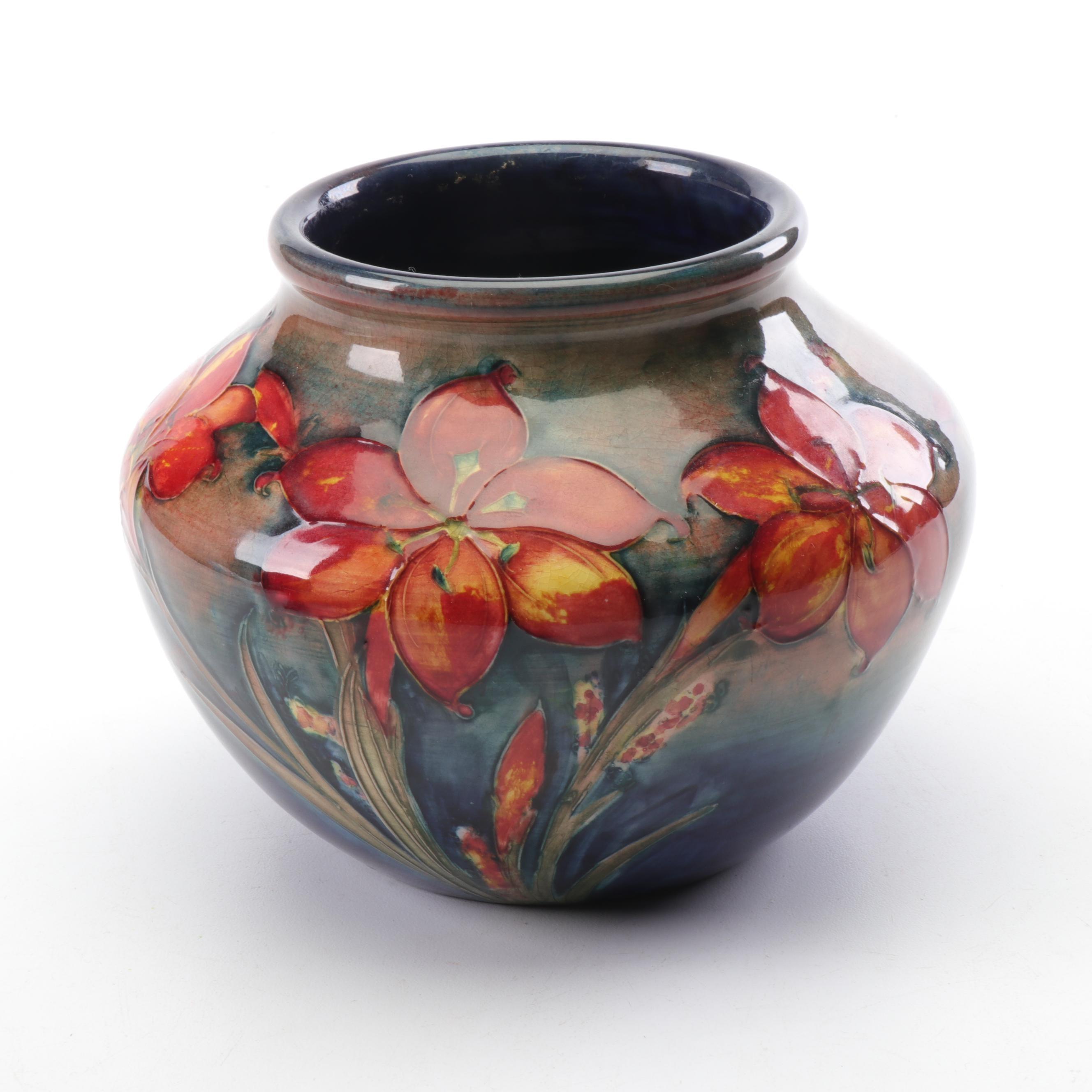 "Moorcroft ""Freesia"" Ceramic Vase, Early to Mid 20th Century"