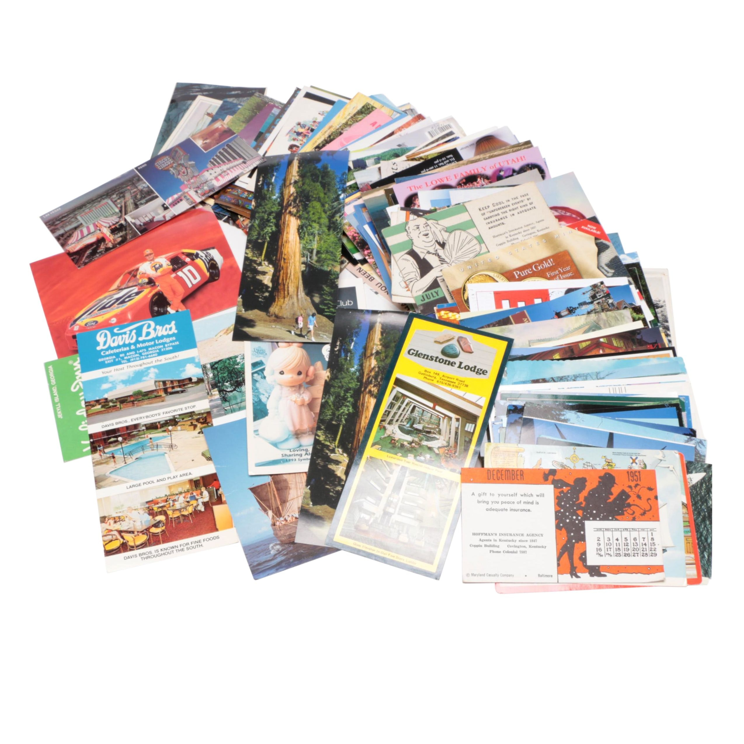 Postcards, Travel Flyers and Other Ephemera, Mid to Late 20th Century