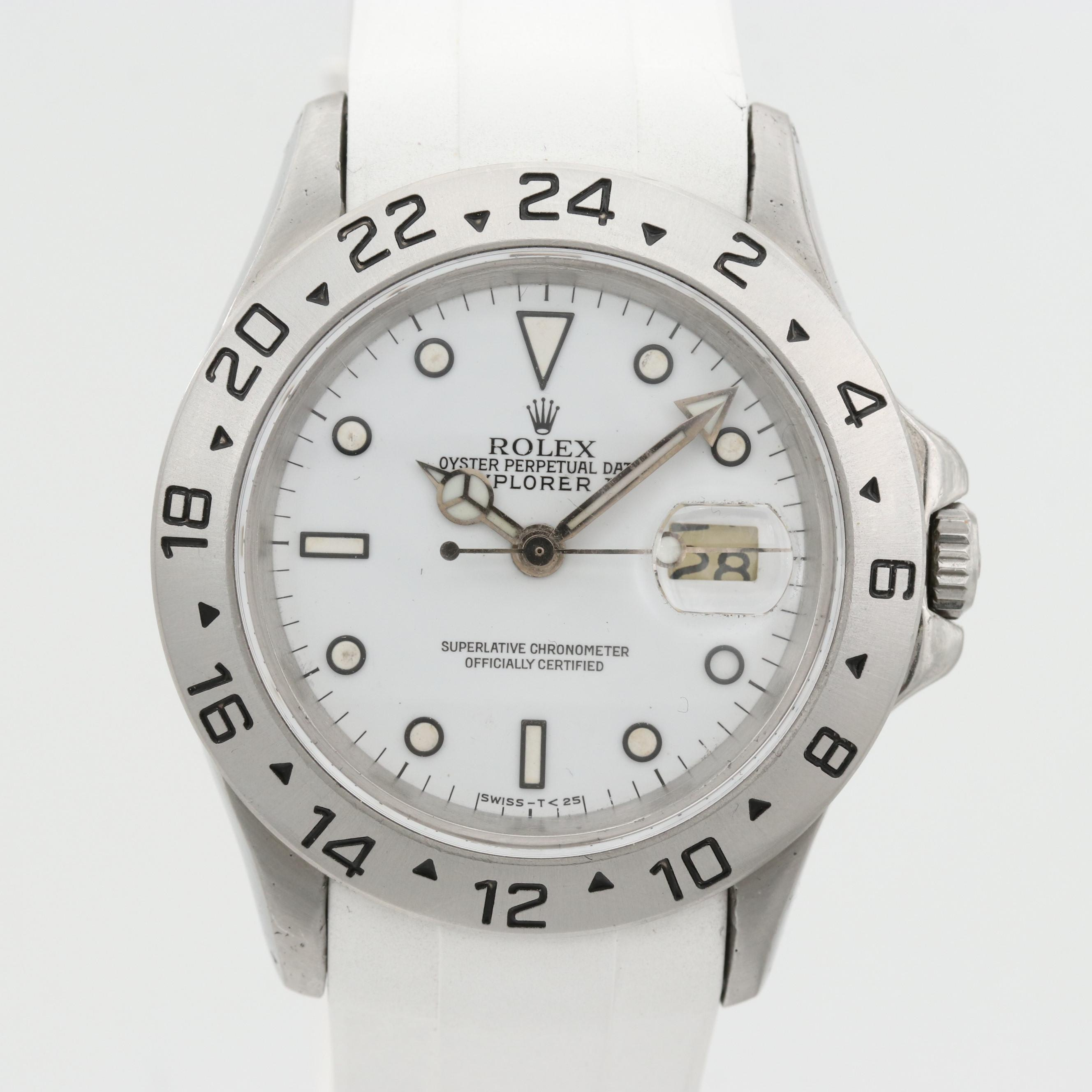 Rolex Explorer II Wristwatch With White Dial, 1986
