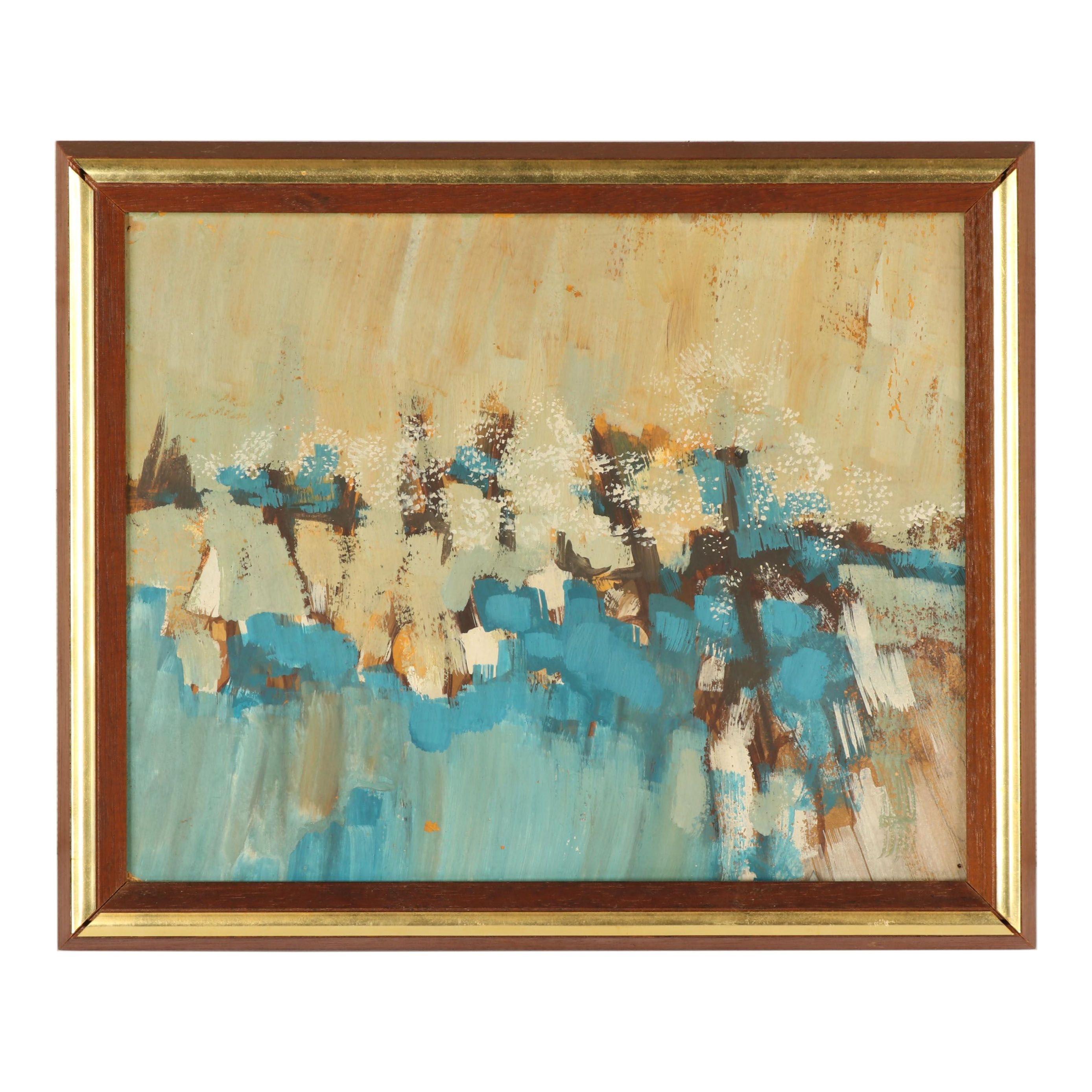 Letzkus Abstract Gouache Painting