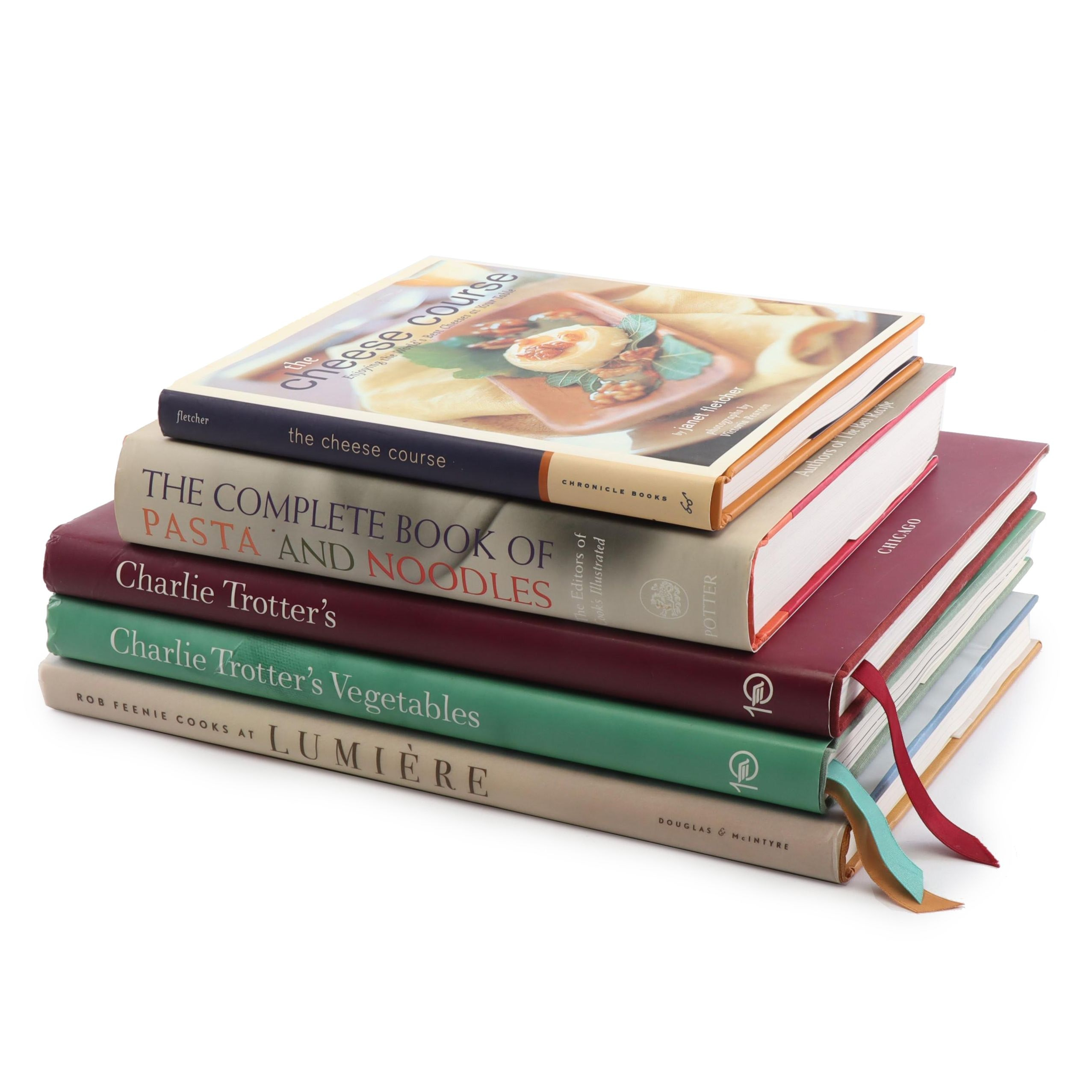 Cookbooks Featuring Charlie Trotter's and The Complete Book of Pasta and Noodles