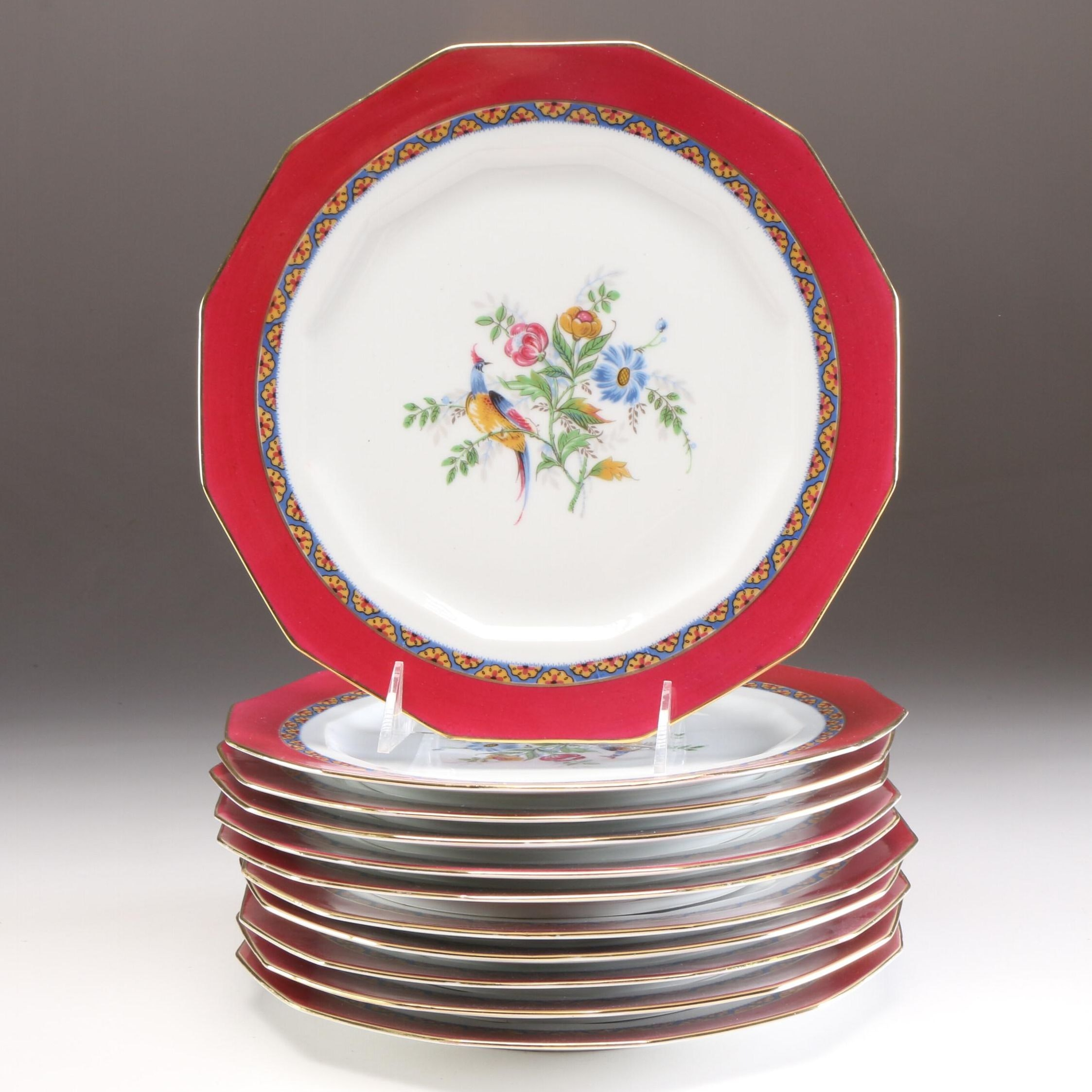 Charles Ahrenfeldt Limoges Porcelain Dinnerware, Early to Mid 20th Century