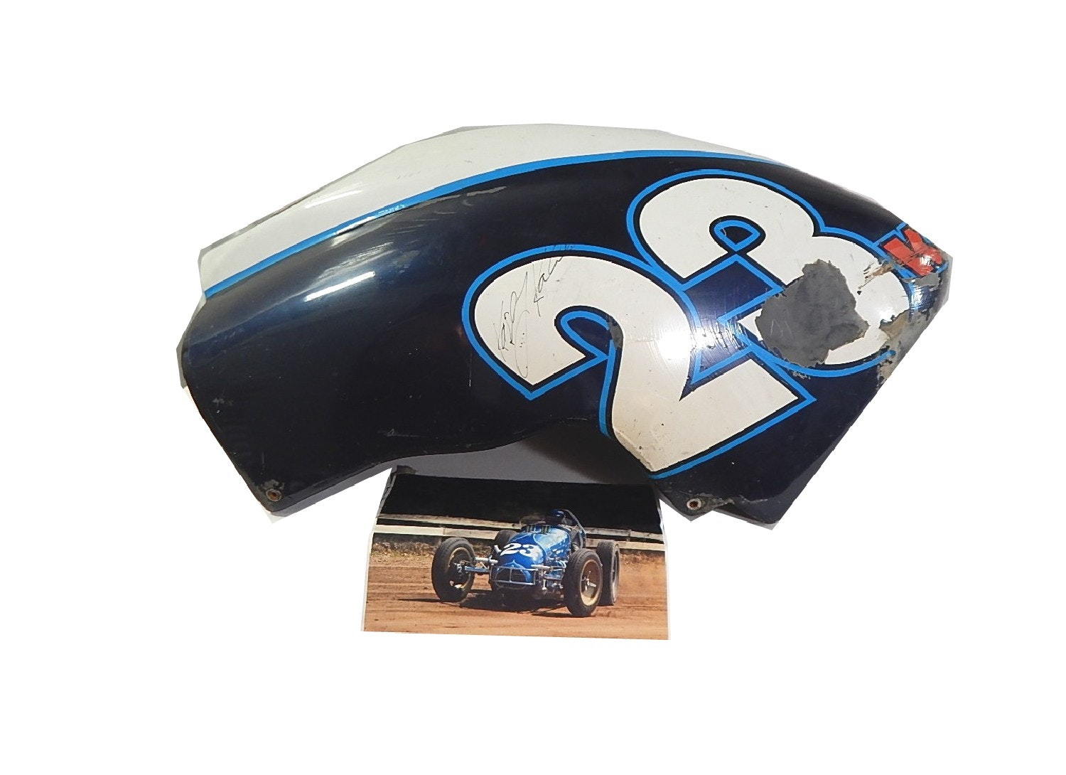 Kasey Kahne Dirt Track Speed Racer Sprint Car Signed Car Piece