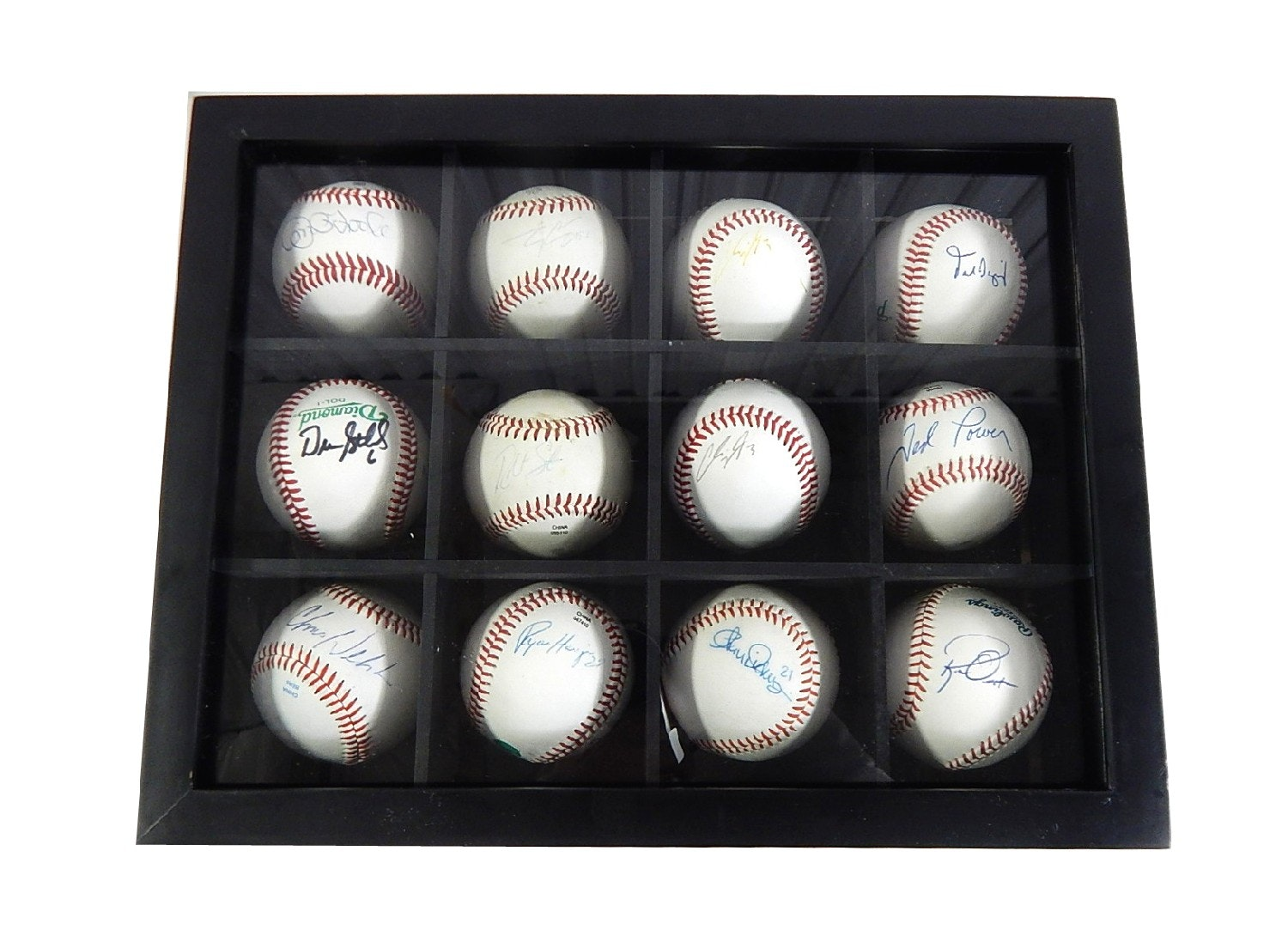 Twelve Cincinnati Reds Signed Baseballs with Oester, Power, Cigrani, O'Toole