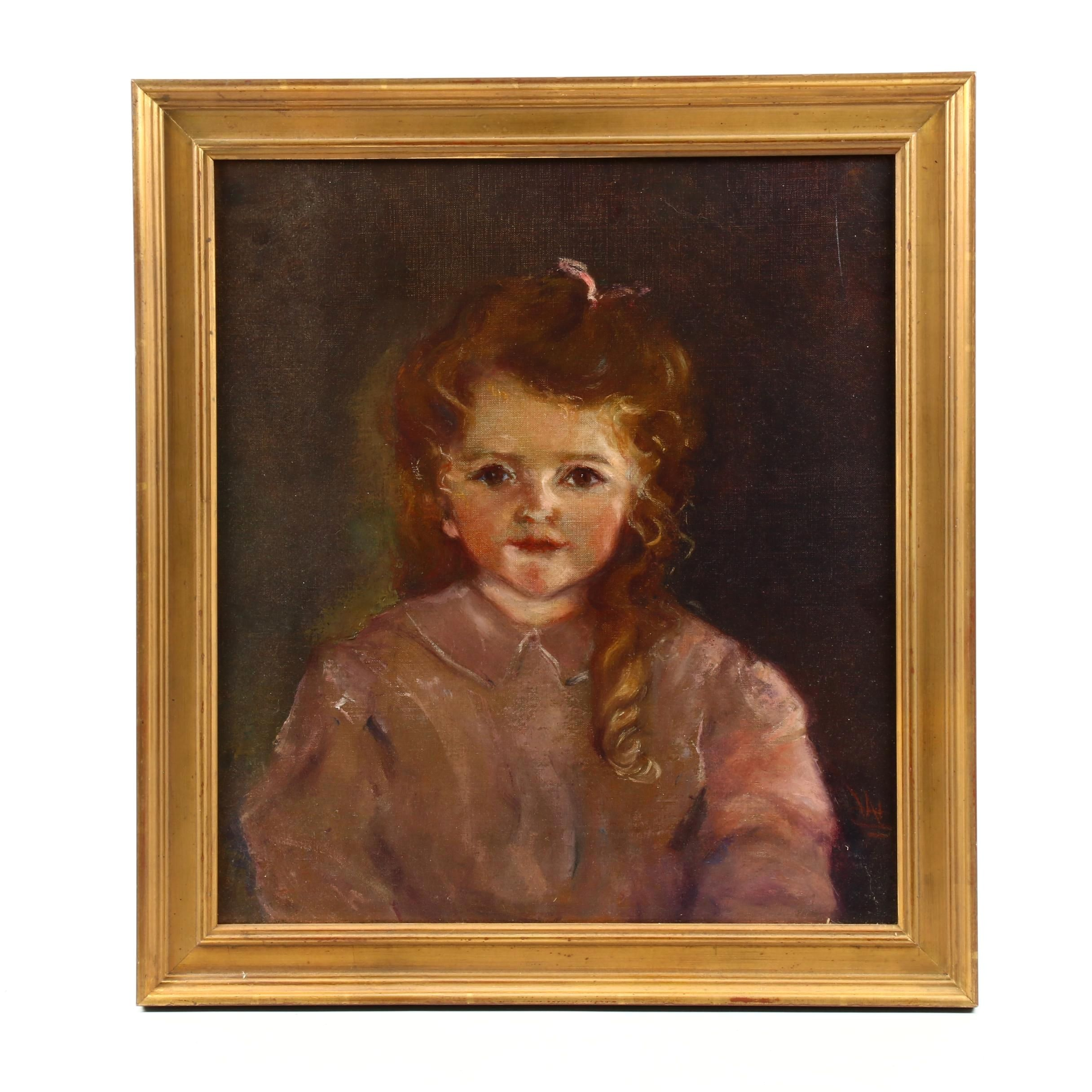 Oil Painting Portrait of a Young Girl