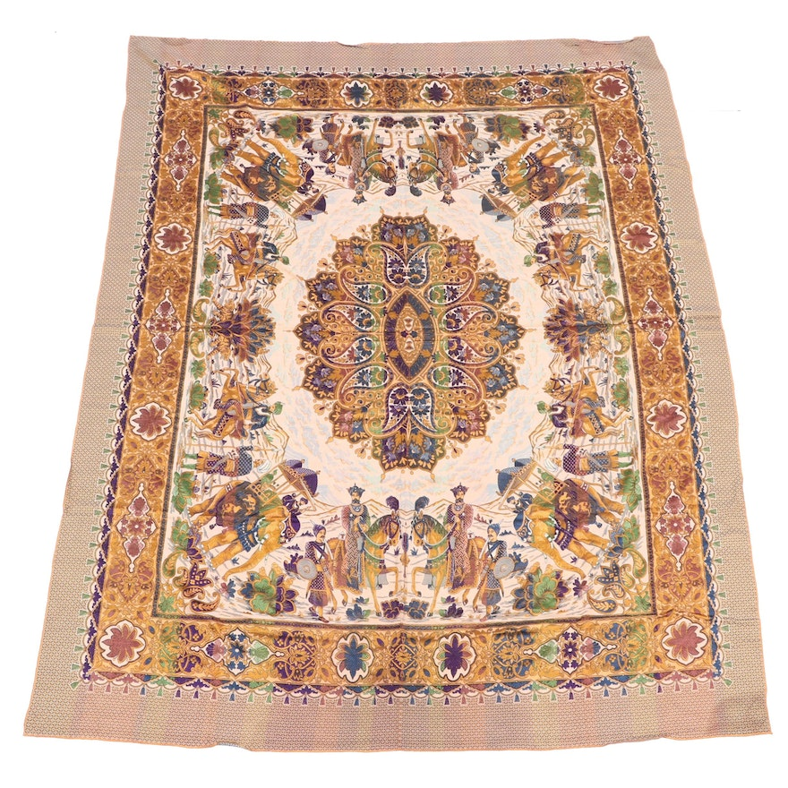 Jacquard Woven Indo-Persian Style Tablecloth