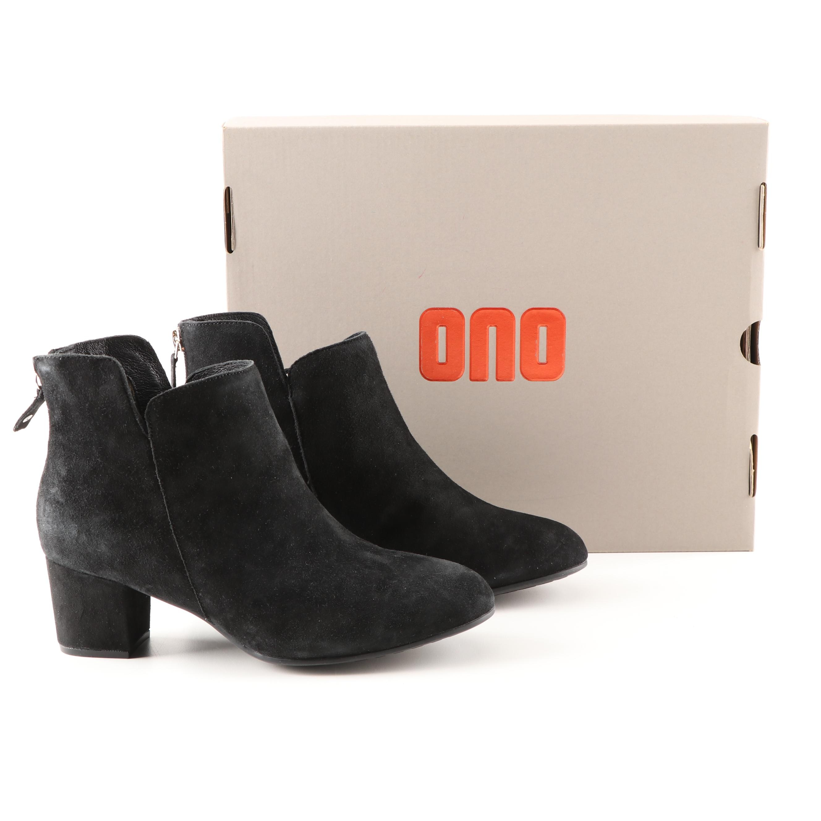 Ono Black Suede Booties