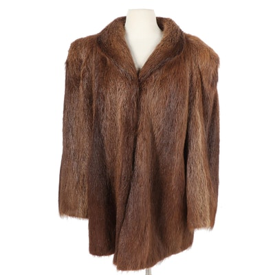 Beaver Fur Coat, Vintage