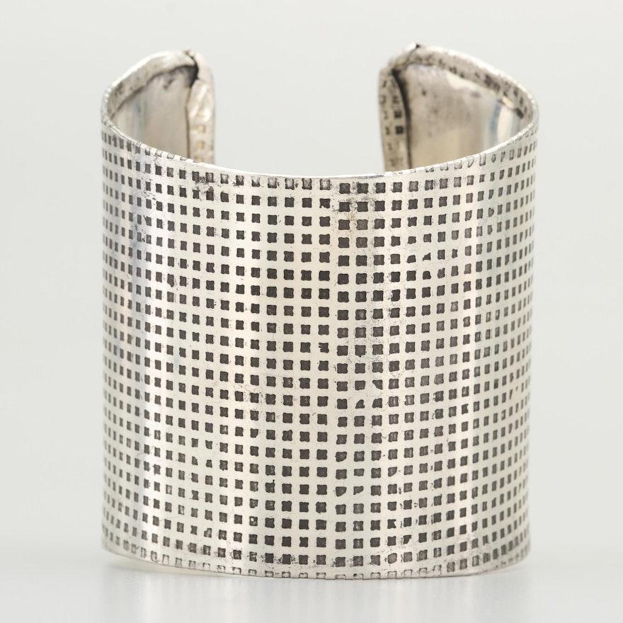 Artisan Silver Tone Cuff Bracelet