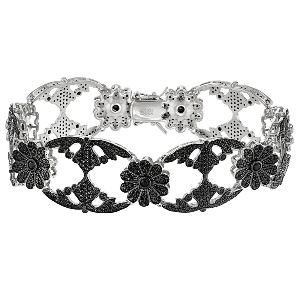 Sterling Silver Spinel Bracelet