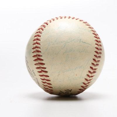 1959 Milwaukee Braves Signed National League Baseball, JSA Full Letter COA