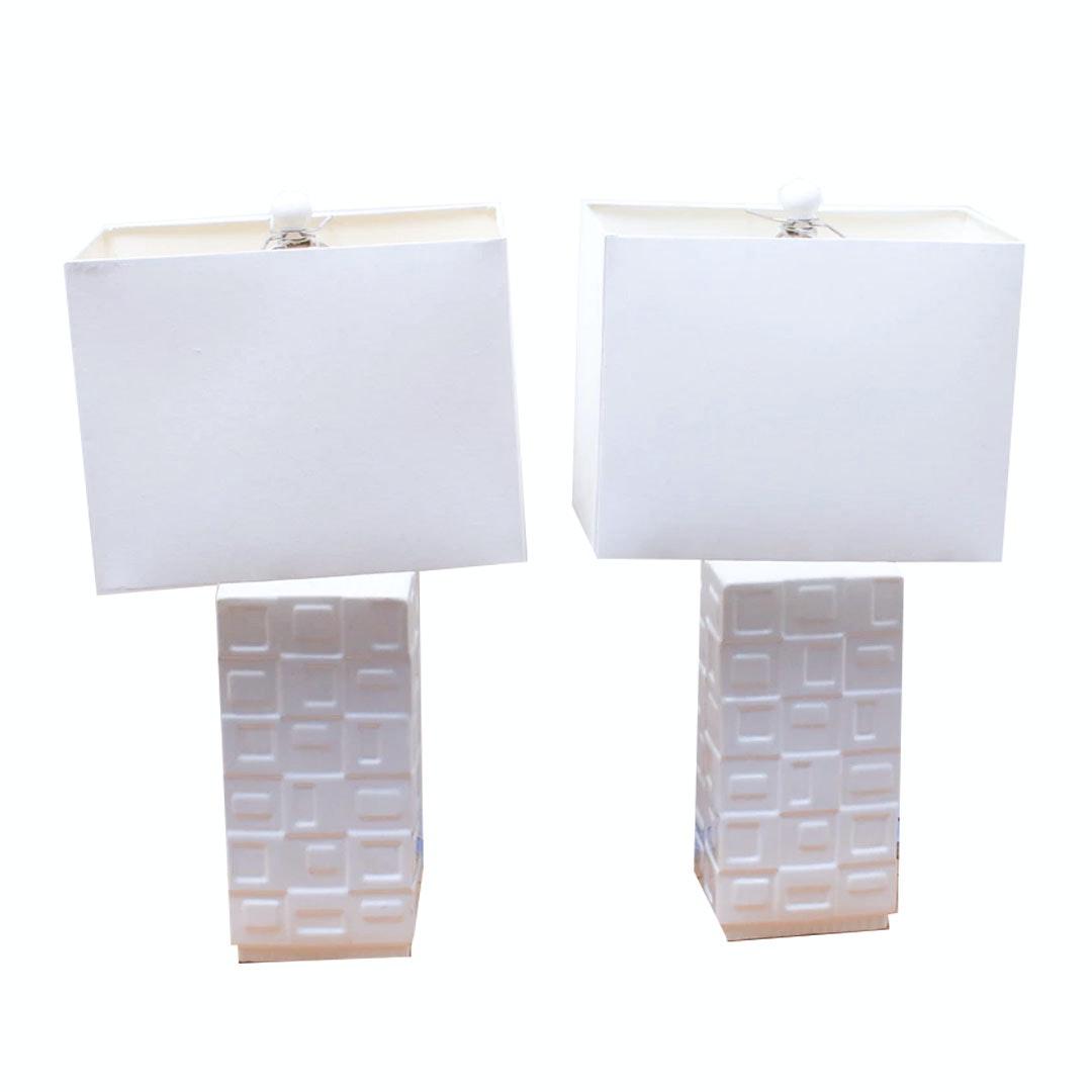 Contemporary White Ceramic Table Lamps