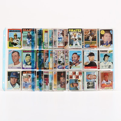 Topps and Other Signed Baseball Cards, 1950s-1990s