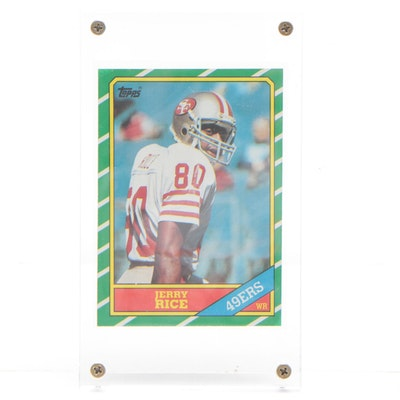 Jerry Rice San Fransisco 49ers Topps Rookie Football Card