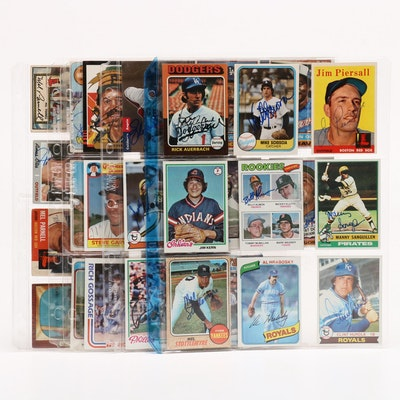 Topps and Bowman Hand Signed Baseball Cards, 1950s-1980s
