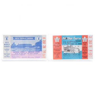 1970 All-Star and 1972 World Series Tickets Stubs