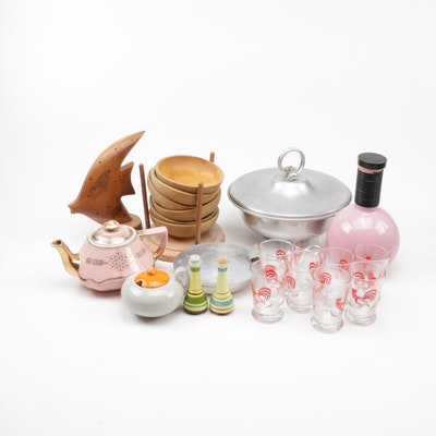 Mid Century Modern Kitchenalia Including Hall, Buenalium and More, Vintage