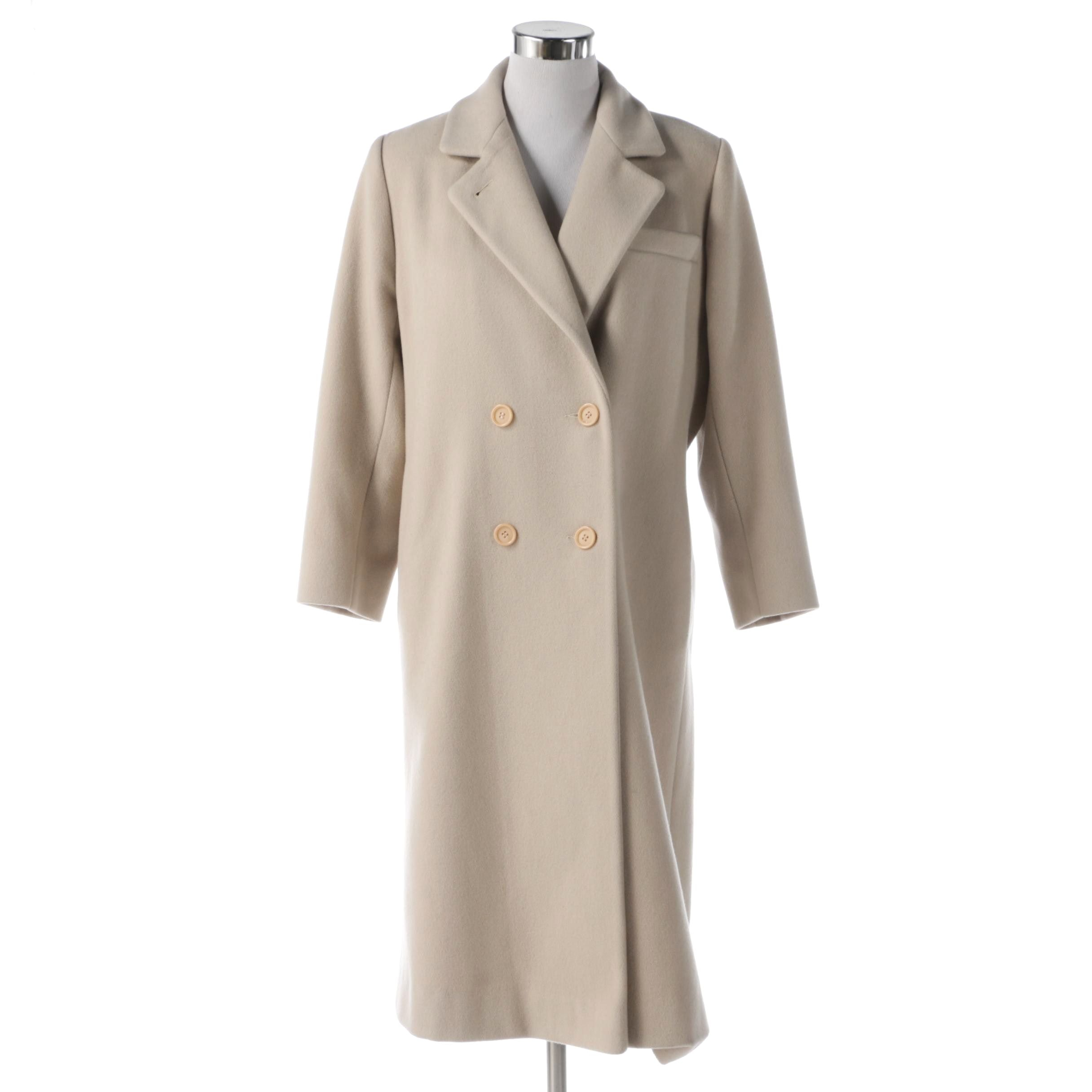 KAREN Double-Breasted Wool Dress Coat