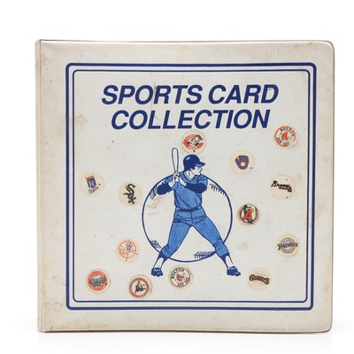 Topps Baseball Cards Housed in Vinyl Binder, 1960s and 1970s