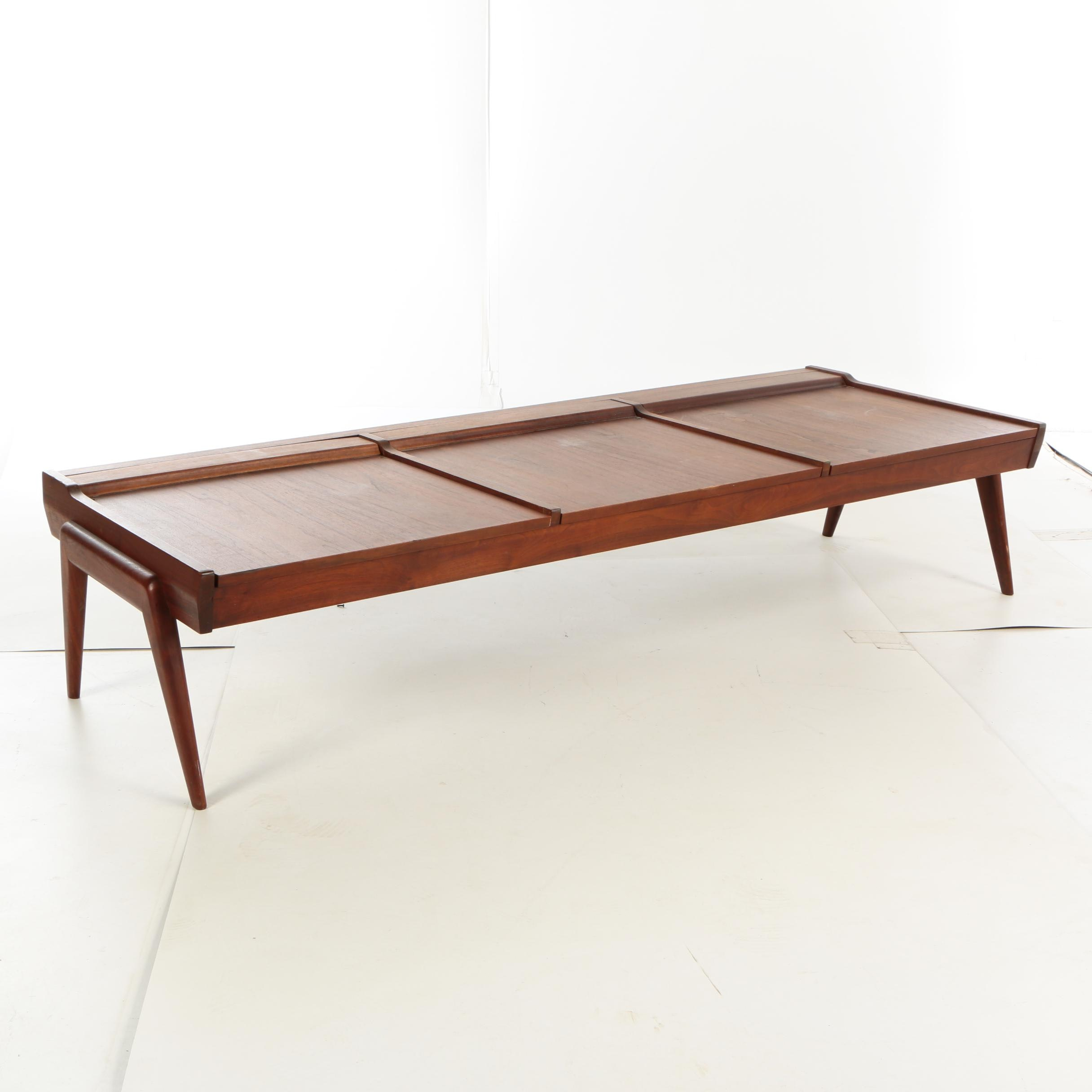 Danish Modern Style Rosewood Metamorphic Daybed to Table, Mid 20th Century
