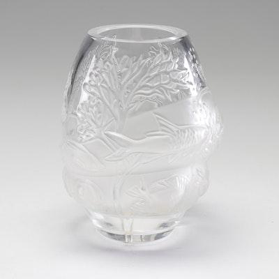 "Lalique Crystal ""Marina"" Vase, Late 20th Century"