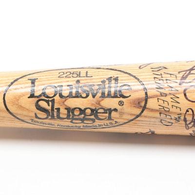 Cincinnati Reds Signed Louisville Slugger Bat, JSA Full Letter