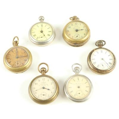 Antique Ingersoll, Waterbury, and Calumet Pocket Watches