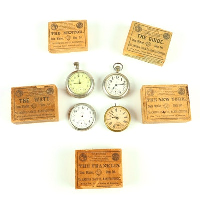 Antique Ansonia Clock Co. Pocket Watches
