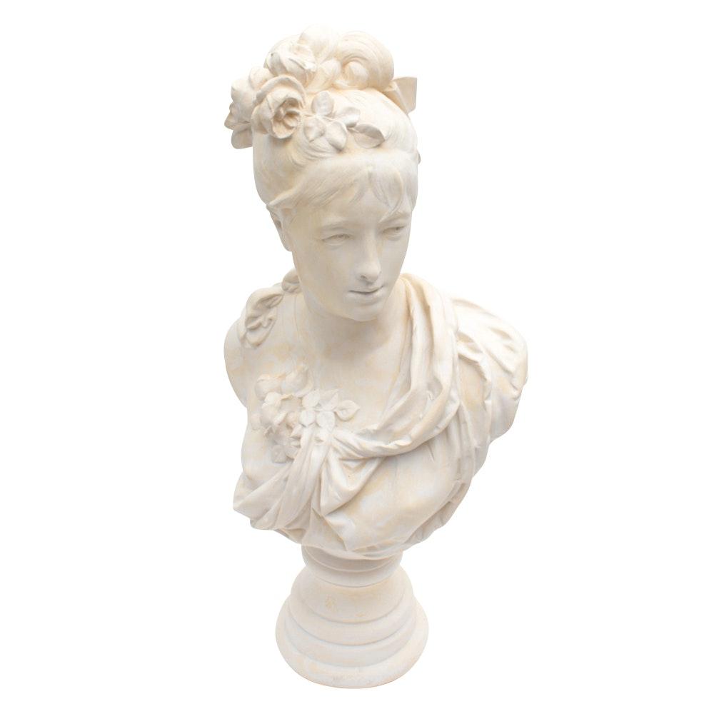 After Albert-Ernest Carrier-Belleuse Bust of a Woman