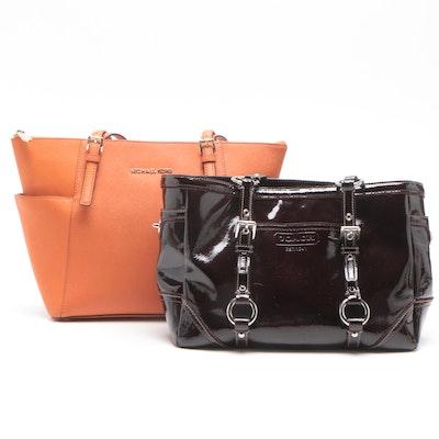c450ffec23d Coach Leather Shoulder Bag and MICHAEL Michael Kors Patent Leather Shoulder  Bag