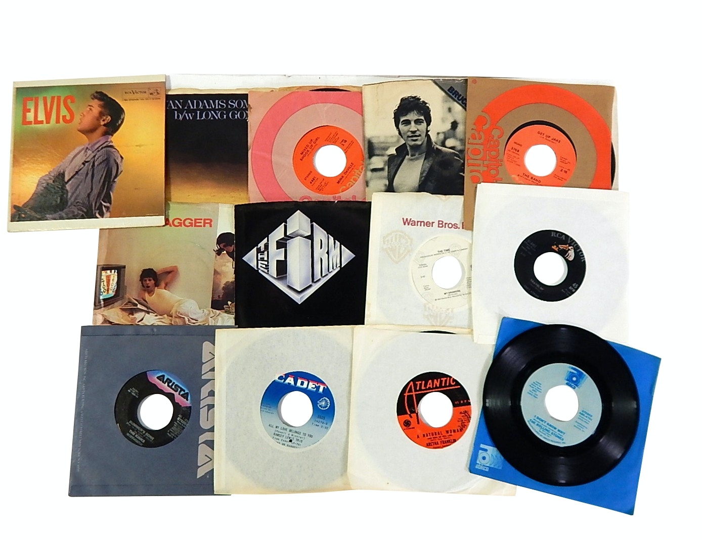 45 RPM Records with Bruce Springsteen, Aretha Franklin, The Rolling Stones