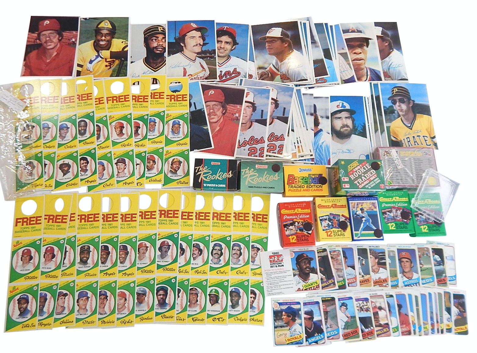 Collection of Baseball Sets from 1980s